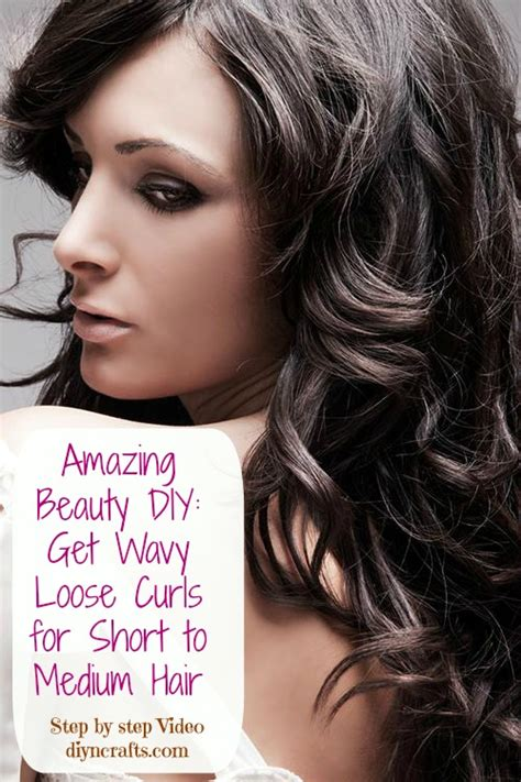 curling hair tutorial for med hair amazing beauty diy get wavy loose curls for short to