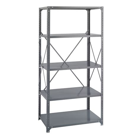 commercial metal shelving 36 x 24 commercial 5 shelf kit safco products