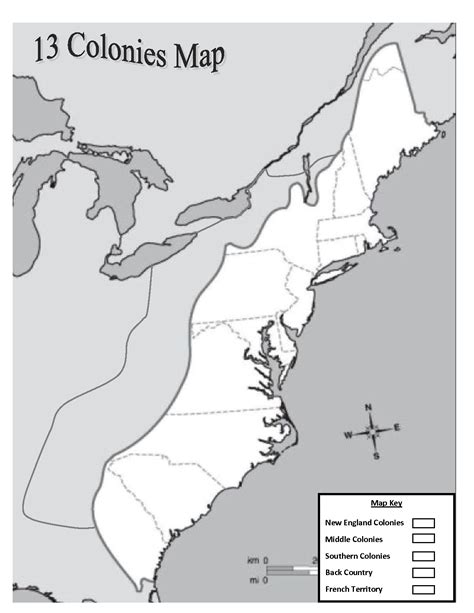 colonie map outline of the 13 colonies map blank images