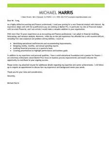 Cover Letter Financial Accountant by Best Accounting Finance Cover Letter Exles Livecareer