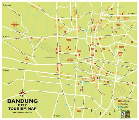 map of bandung city bandung city map