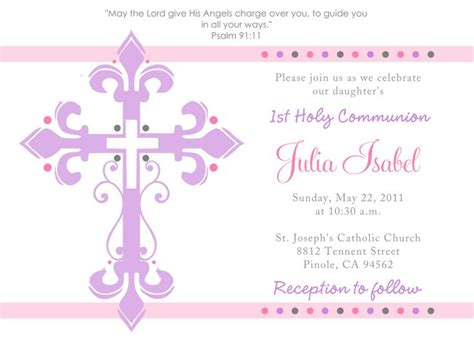 communion invitations templates holy communion invitations holy communion