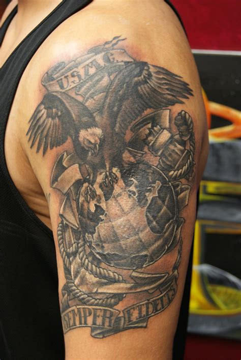 marine corps tattoos army marine tattoos