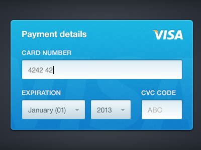 Credit Card Form Design Dribbble Credit Card Form By Haziq Mir