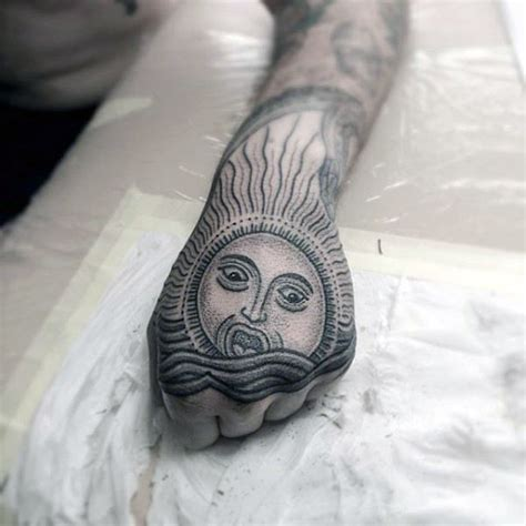 tattoo hand light 70 sun tattoo designs for men a symbol of truth and light