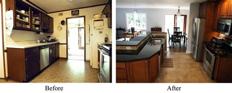 mobile home remodels before and after mobile home