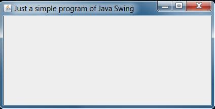Introduction To Swing In Java
