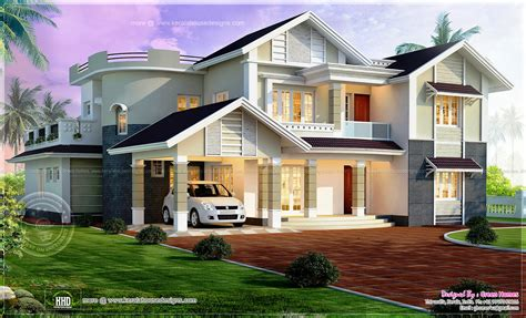 Beautiful 4 bedroom house exterior elevation kerala home design and
