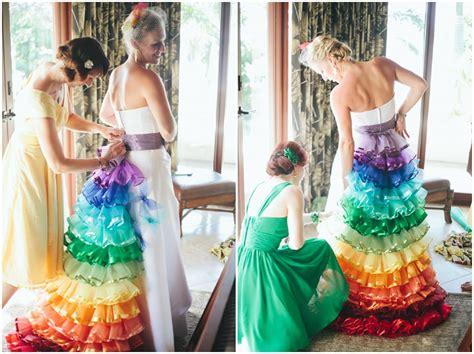 rainbow themed wedding in costa rica boho weddings