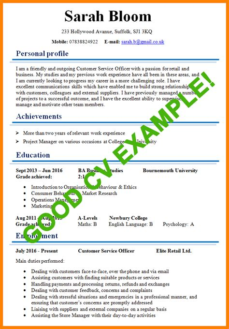 Sample Resume For Financial Analyst by 9 Example Of A Good Cv Bookkeeping Resume