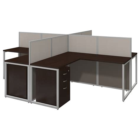 60x60 l shape desk cubicles with storage