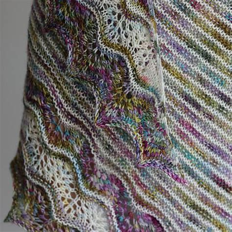 shawl pattern variegated yarn ravelry laineselect s ondula patterns for variegated