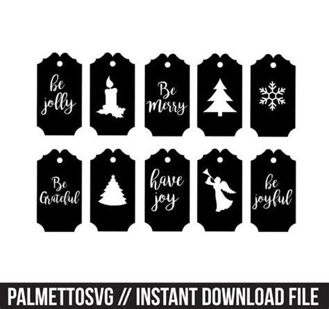 christmas gift tags labels svg dxf jpeg png file stencil