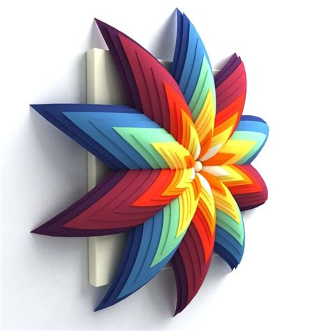 Decorative Origami - wall origami decorative 3d max