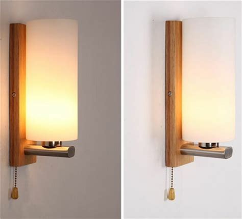 hallway wall light covers nordic wood oak glass cover wall l light diy home cafe