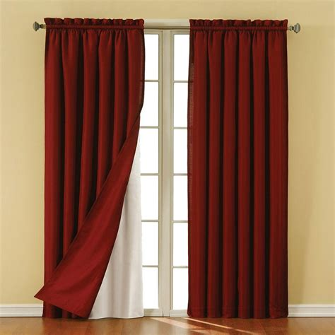 Blackout Liners For Curtains Eclipse Thermaliner White Blackout Energy Saving Curtain Liners 92 In Length 1 Pair