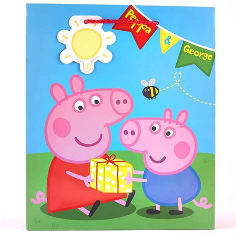 Valentine S Day Gifts For Her by Peppa Pig Large Gift Bag Cardfactory
