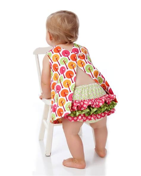simple pattern baby dress baby dress pattern reversible open back sewing