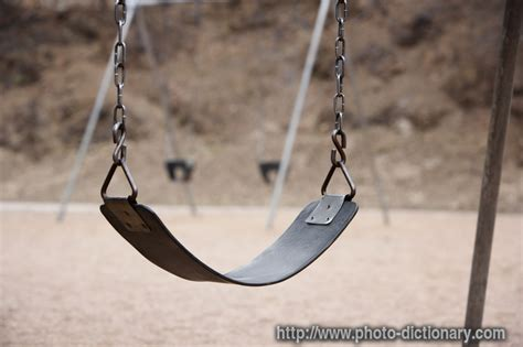 define swinging playground swing photo picture definition at photo