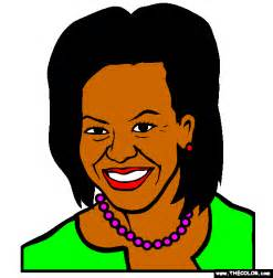 first lady michelle obama online coloring page