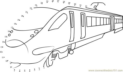 coloring page bullet train connect the dots bullet train transporation gt train