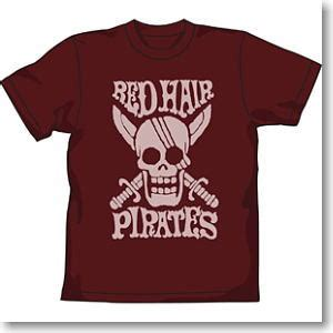 Hbj3128 One Haired Shanks Another Color Japan one hair pirate t shirt burgundy l anime hobbysearch anime goods store