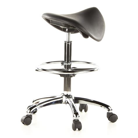 taburete ruedas taburete con ruedas work en cuero negro taburete de