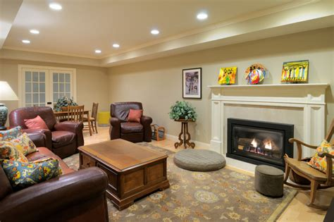 Basement Tray Ceiling Traditional Basement Remodel With Tray Ceiling Engineered