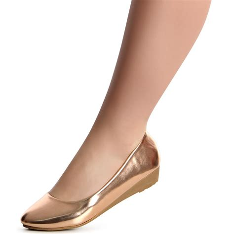 damen pumps ballerina keilabsatz halbschuhe wedges
