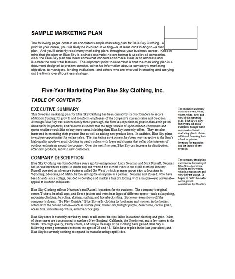 33 free professional marketing plan templates free