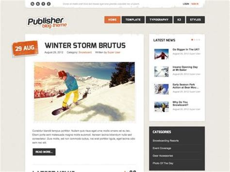 joomla template publisher