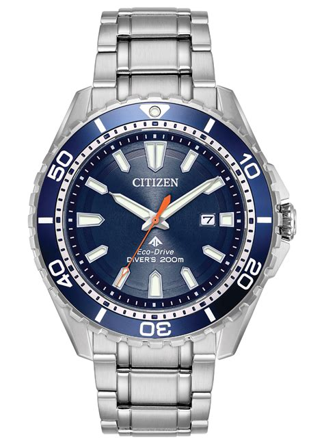 citizen eco drive dive promaster diver s stainless steel blue