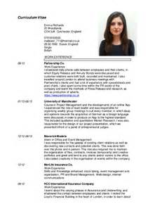 Cv In English by Emma Richards English Cv 2015