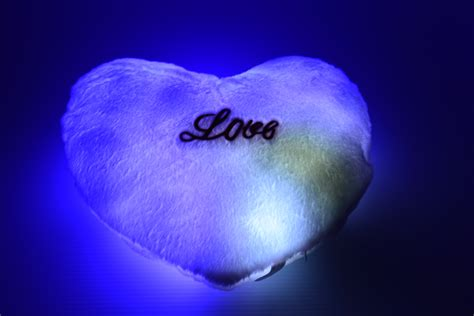 led light  heart pillow eternity led