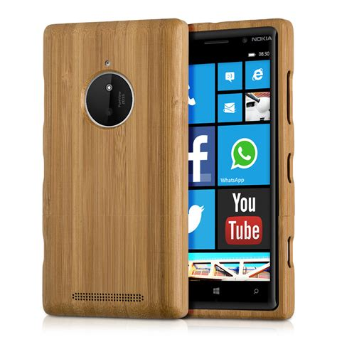 Casing Kesing Nokia 2630 kwmobile wood cover for nokia lumia 830 bamboo back mobile ebay