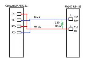 modbus communication wiring diagram for conversion of rs 485 2 wire to 4 wire industrial