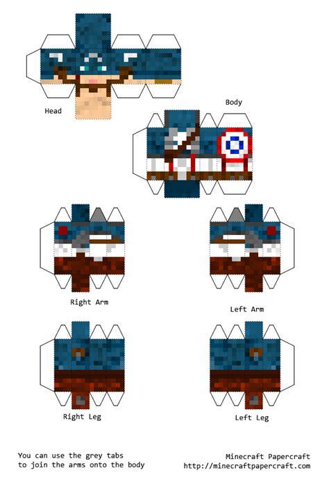 Captain America Papercraft - papercraft captain america