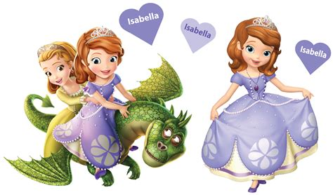 princess sofia wall stickers personalised princess sofia the movable wall stickers