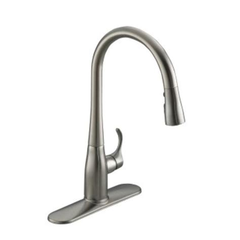 single handle pull down kitchen faucet kohler bellera single handle pull down sprayer kitchen