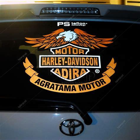 Aksesoris Stiker Mobil Harley Davidson Cycles Kaca Decal Rear Sticker jual harley davidson cutting sticker motif stiker mobil