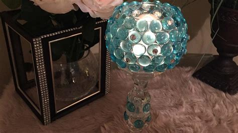 Dollar Store Home Decor Ideas by Diy Glass Gem Candle Holder Dollar Tree Inspired My