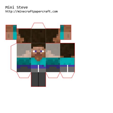 How To Make Minecraft Steve Out Of Paper - papercraft mini steve