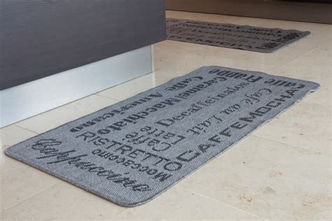Gray Kitchen Rugs Modern Grey Jute Style Thin Coffee Rug Small Cheap Cafe Print Woven Kitchen Mats