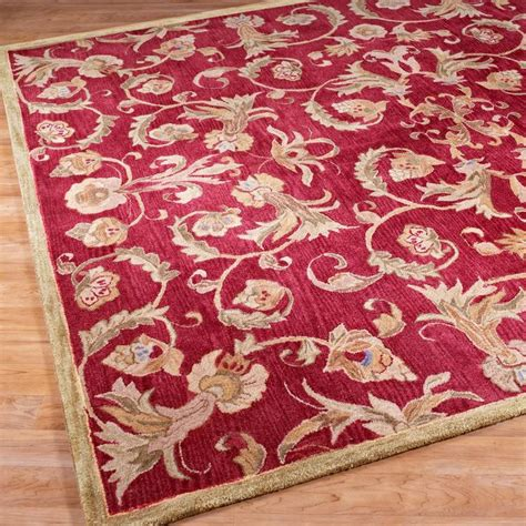Cranberry Bath Rugs by Cranberry And Antique Gold Tufted Rug