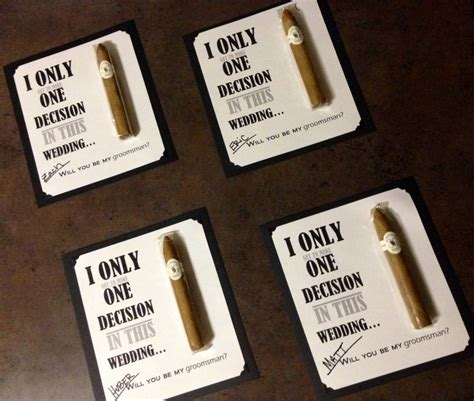 Cigar Gift Card - will you be my groomsman cigars gift