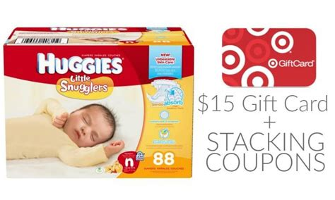 Huggies Gift Card - 15 gift card deal on huggies diapers 2 coupons