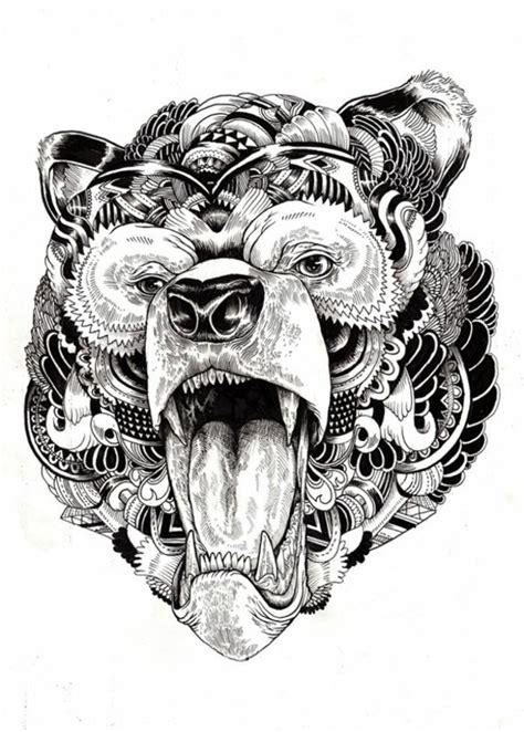 pattern bear tattoo 40 mandala vorlagen mandala zum ausdrucken und ausmalen