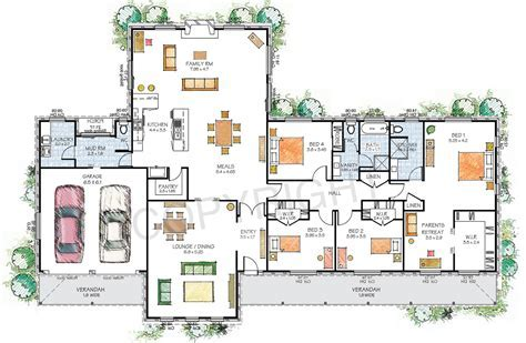 Paal Kit Homes Hartley steel frame kit home, Reversed Plan