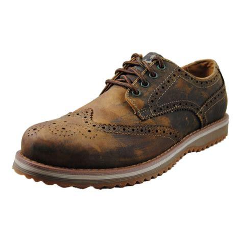 brown oxfords s shoes skechers mens ridge vanek brown oxfords shoes 63935 cdb ebay