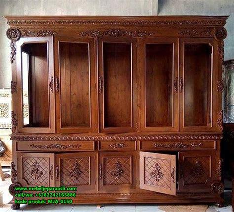 Meubel Jati Asli Muna lemari pajangan capella kayu jati mebel jati jepara asli minimalis klasik mebel jepara